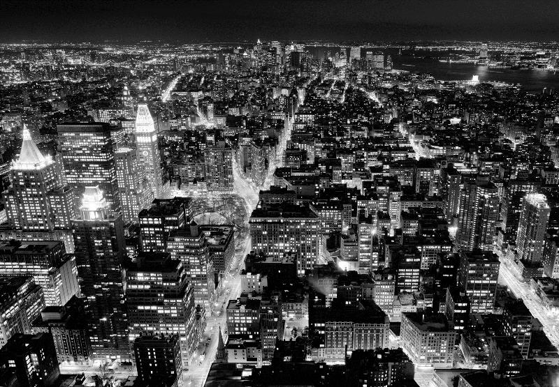 117 Город чб (8 листов 366х254) | Фотообои W+G